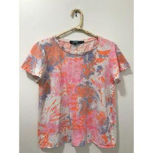 EVA FRANCO ANTHROPOLOGIE Fireworks Tie-Dye T-shirt
